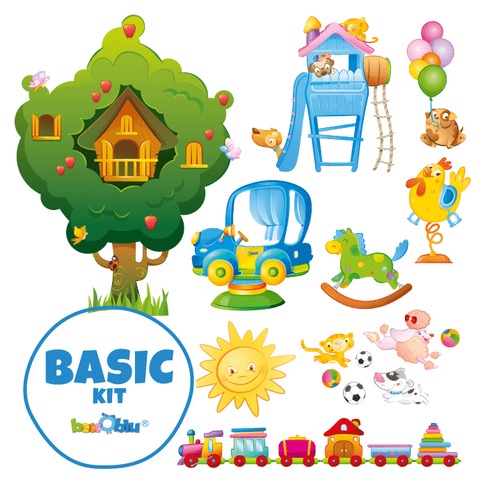 Wall Decals for Children Basic Kit All at the Park
